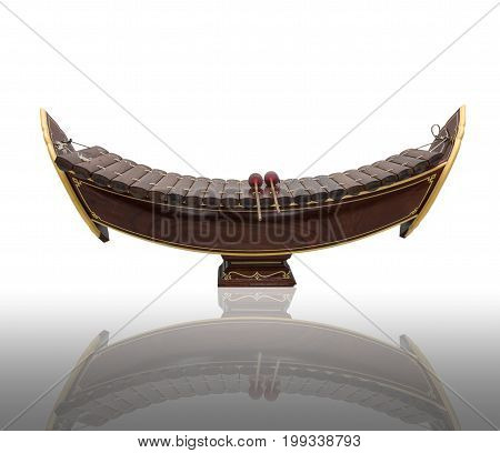 Thai musical instrument (Alto xylophone) on white backgroundasian instrument
