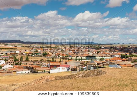 Consuegra Spain - May 21 2014: View of the town Consuegra Castilla La Mancha Spain.