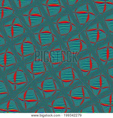 Green seamless pattern. Illustration design. Geometric pattern. Green background. Green texture. Red seamless pattern. Red background. Red texture