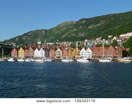 Bryggen Hanseatic Wharf, UNESCO World Heritage Site in Bergen, Norway