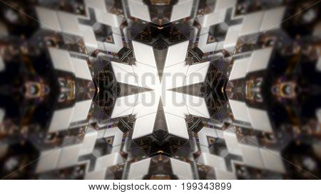 Abstract background with technology kaleidoscope. 3d rendering