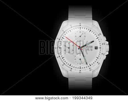 Wristwatch On Black