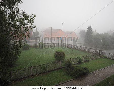 Heavy Rain And Hail