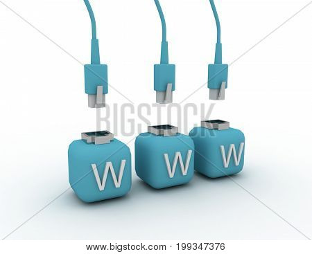 internet concept connection . 3d rendered illustration