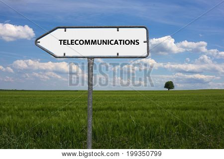 Telecommunications - Image With Words Associated With The Topic Communication Technology, Word, Imag