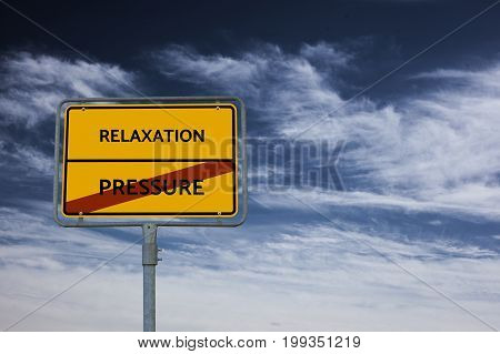 Pressure - Relaxation - Image With Words Associated With The Topic Meritocracy, Word, Image, Illustr