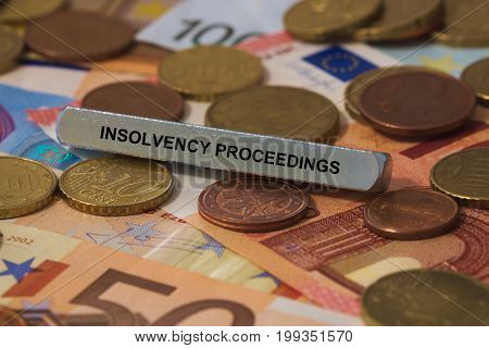Insolvency Proceedings - Image With Words Associated With The Topic Insolvency, Word, Image, Illustr