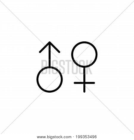 Female, Male, Gender Icon On White Background