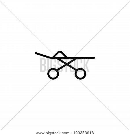 Stretcher Icon On White Background