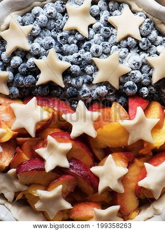 A pie to America's Independence Day. President's day concept.