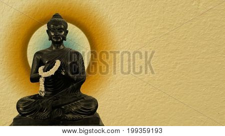 Ancient Buddha, The ancient Buddha statue or ancient Buddha image on white isolated background