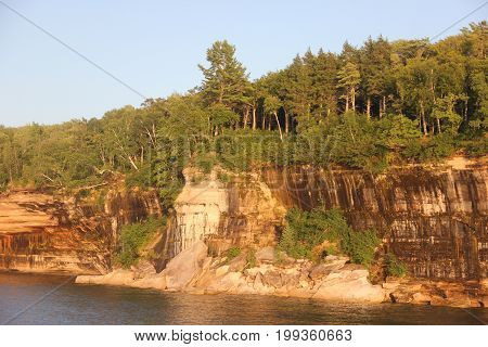 Cliffs of Pictured Rocks National Lakeshore, Upper Peninsula of Michigan