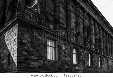 Old National Gallery in Berlin in Black and White