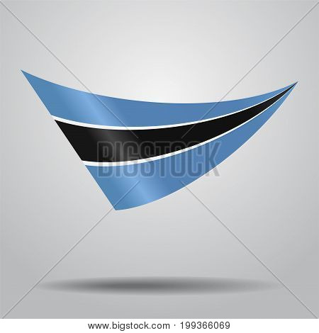 Botswana flag wavy abstract background. Vector illustration.
