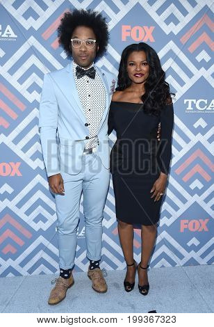 LOS ANGELES - AUG 08:  Johnathan Fernandez and Keesha Sharp arrives for the FOX TCA Summer Press Tour 2017 on August 8, 2017 in West Hollywood, CA