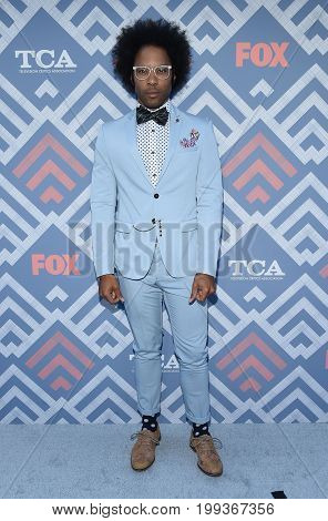 LOS ANGELES - AUG 08:  Johnathan Fernandez arrives for the FOX TCA Summer Press Tour 2017 on August 8, 2017 in West Hollywood, CA