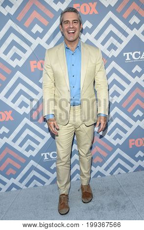 LOS ANGELES - AUG 08:  Andy Cohen arrives for the FOX TCA Summer Press Tour 2017 on August 8, 2017 in West Hollywood, CA