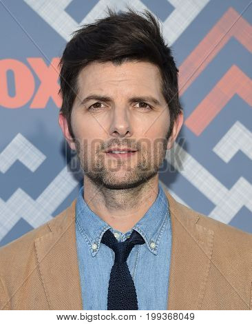 LOS ANGELES - AUG 08:  Adam Scott arrives for the FOX TCA Summer Press Tour 2017 on August 8, 2017 in West Hollywood, CA