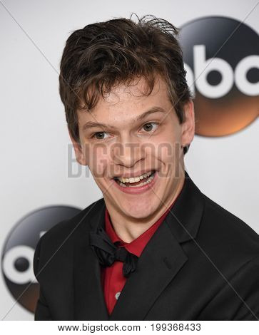 LOS ANGELES - AUG 06:  Micah Fowler arrives for the ABC TCA Summer Press Tour 2017 on August 6, 2017 in Beverly Hills, CA