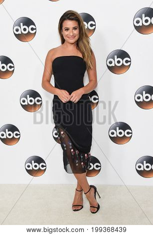 LOS ANGELES - AUG 06: Lea Michele  arrives for the ABC TCA Summer Press Tour 2017 on August 6, 2017 in Beverly Hills, CA