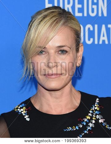 LOS ANGELES - AUG 02:  Chelsea Handler arrives for the HFPA's Grants Banquet on August 2, 2017 in Beverly Hills, CA