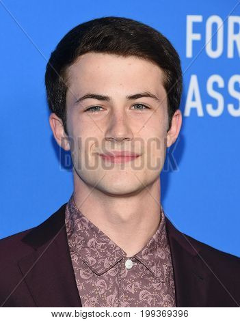 LOS ANGELES - AUG 02:  Dylan Minnette arrives for the HFPA's Grants Banquet on August 2, 2017 in Beverly Hills, CA