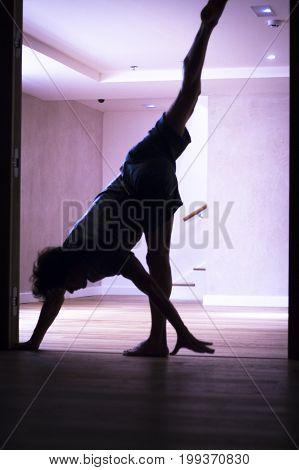 Man Yoga Handstand