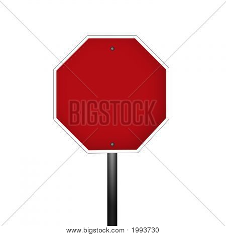 Isolated Blank Graphic Stop Sign