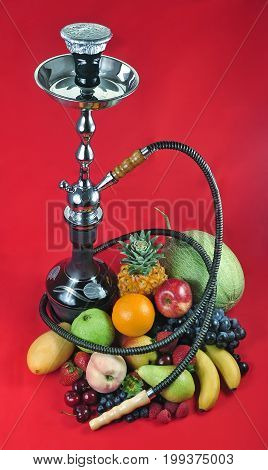 Natural organic tropical fruits mix for hookah