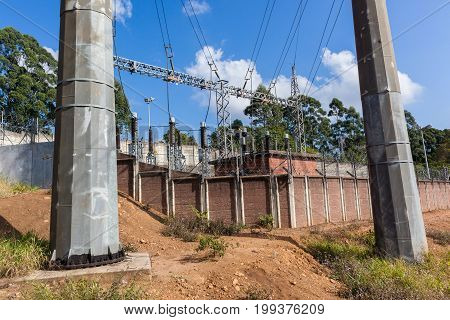 Electrical Sub Station Power Lines Towers