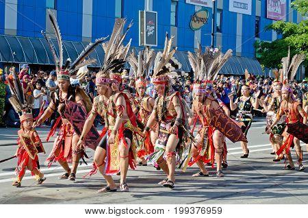 Kota Kinabalu, Malaysia - August 31, 2016: Malaysian From Sabah Borneo Rungus Ethnic In Their Tradit