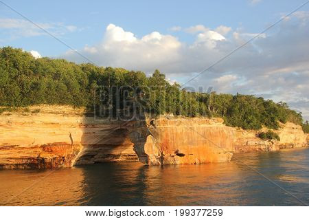 Lovers Leap, Pictured Rocks National Lakeshore, Upper Peninsula of Michigan poster