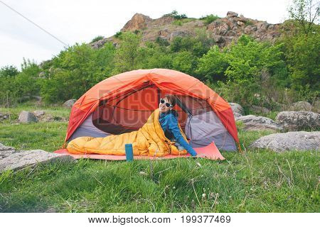 Camping In The Mountains.