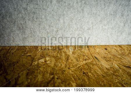 chipboard and wall textile wall close up shoot
