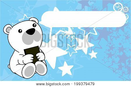 cute baby polar teddy bear book background in vector format very easy to edit