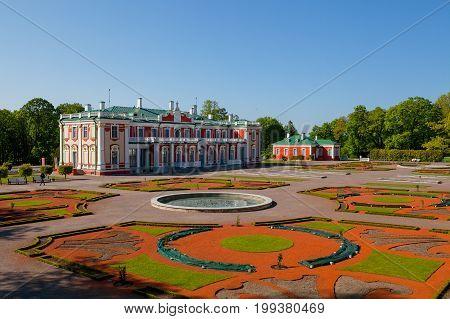 Kadriorg palace and park in Tallinn, Estonia