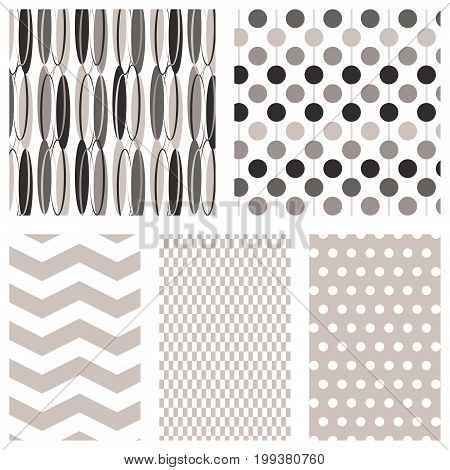 Modern black and grey seamless pattern backgrounds.