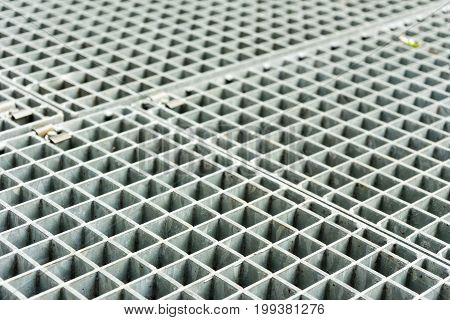 metal grid structure close up abstract shot