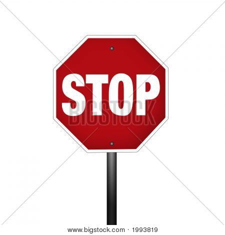 Isolated Graphic Stop Sign