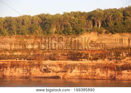 Cliffs at Pictured Rocks National Lakeshore, Upper Peninsula of Michigan