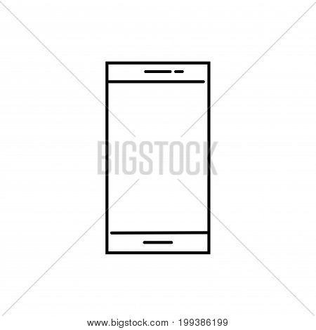 linear simple mobile smartphone comunication vector icon
