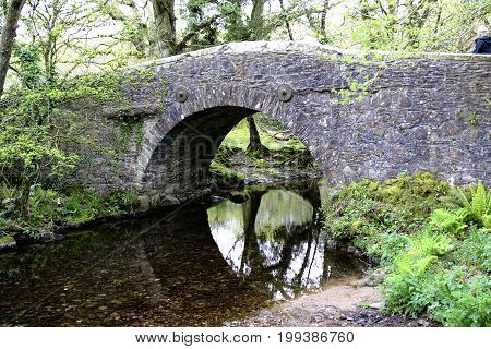 Meavy road bridge on Dartmoor national park