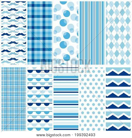10 seamless patterns for digital paper, scrapbooking, cards, invitations, announcements, gift wrap, backgrounds, borders and more.