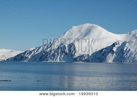 Snowy Mountain in Alaska