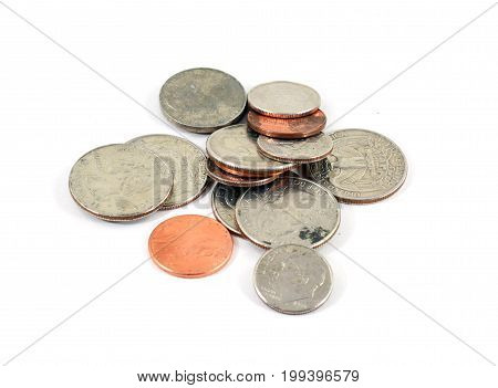 Pile Of American Coins