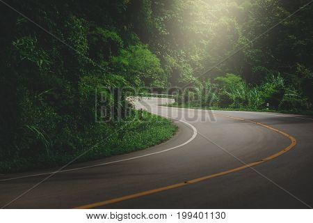 Rural roads. travel roads summer trips concept.