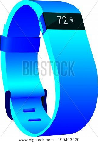 Fitness tracker for controlling the pulse. Vector illustration.