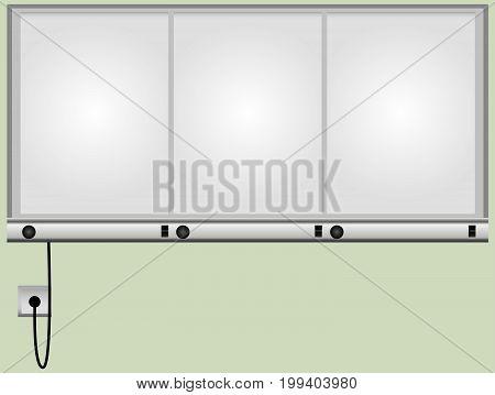 Three-segment X-ray monitor with independent light illumination.