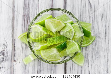 Portion Of Lime Slices