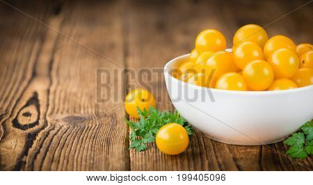 Portion Of Yellow Tomatoes